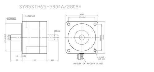 34 Kgcm motor SY85STH65