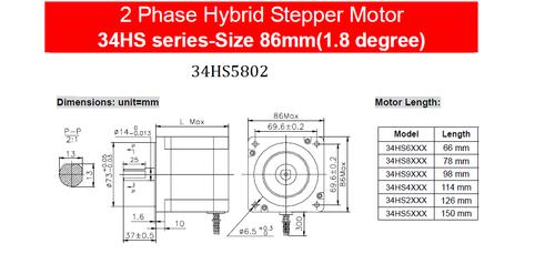 Stepper motor Motionking 34HS5802