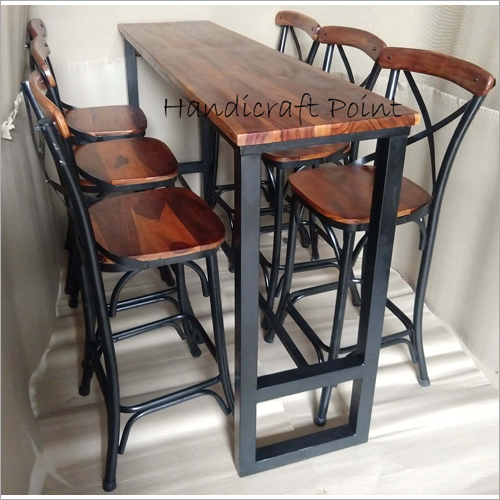 Industrial High Chairs And Table Set